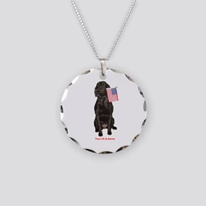 proud american Necklace Circle Charm