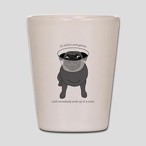 Conehead Black Pug Shot Glass