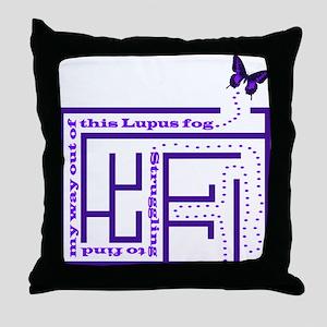 Lupus Fog Throw Pillow