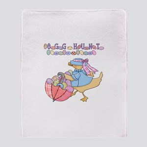 Duck Egg Hunt Throw Blanket