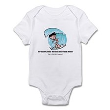My mama surfs... Infant Bodysuit