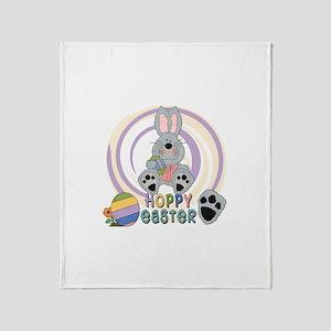 Hoppy Easter Throw Blanket