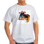 Bum Sniffing Dogs Ash Grey T-Shirt