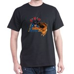 Bum Sniffing Dogs Black T-Shirt