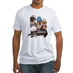 Bum Sniffing Dogs Fitted T-Shirt