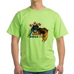 Bum Sniffing Dogs Green T-Shirt