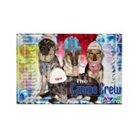 Bum Sniffing Dogs Rectangle Magnet