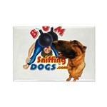 Bum Sniffing Dogs Rectangle Magnet (10 pack)