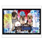 Bum Sniffing Dogs Small Poster