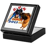 Bum Sniffing Dogs Keepsake Box