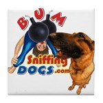 Bum Sniffing Dogs Tile Coaster
