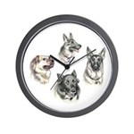 Bum Sniffing Dogs Wall Clock