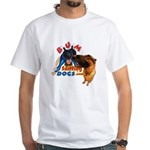 Bum Sniffing Dogs White T-Shirt