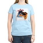 Bum Sniffing Dogs Women's Pink T-Shirt
