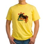 Bum Sniffing Dogs Yellow T-Shirt