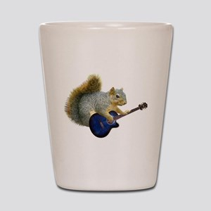 Squirrel with Blue Guitar Shot Glass