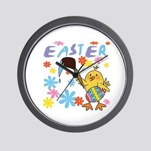 Painting Easter Eggs Wall Clock