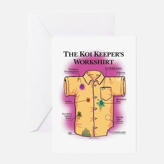 Koi Keeper Shirt Greeting Cards