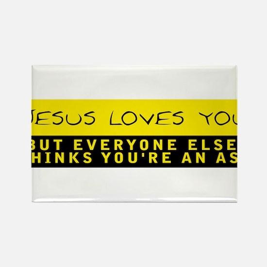 Jesus Loves You Rectangle Magnet