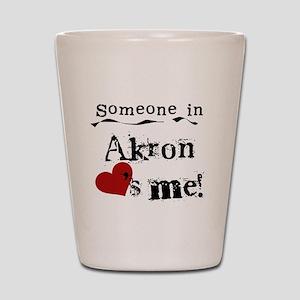 Akron Loves Me Shot Glass