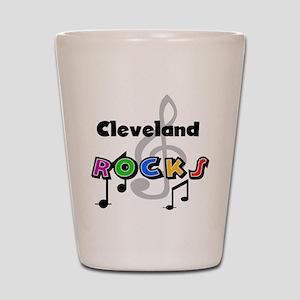 Cleveland Rocks Shot Glass
