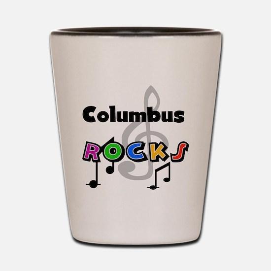 Columbus Rocks Shot Glass