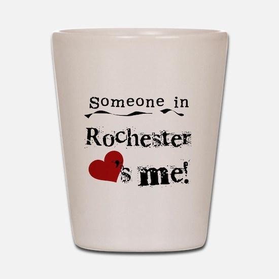 Rochester Loves Me Shot Glass