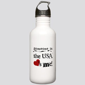 USA Loves Me Stainless Water Bottle 1.0L