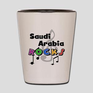 Saudi Arabia Rocks Shot Glass