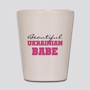 Ukrainian Babe Shot Glass