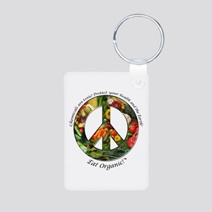 Aluminum Photo Keychain Peace Organic Vegetables