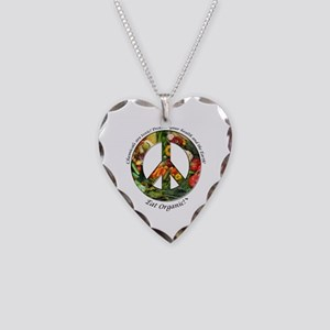 Necklace Heart Charm Peace Organic Vegetables