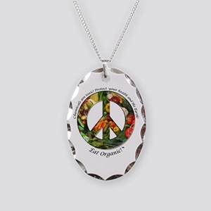 Necklace Oval Charm Peace Organic Vegetables