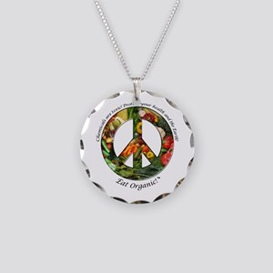 Necklace Circle Charm Peace Organic Vegetables