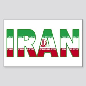Iran World Cup Soccer Flag Rectangle Sticker