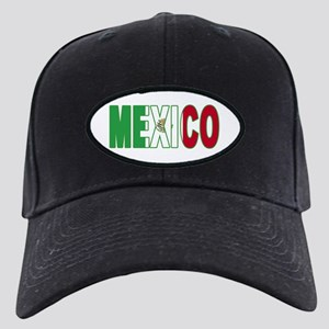 Mexico World Cup Soccer Flag Black Cap
