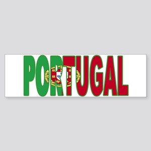 Portugal World Cup Soccer Flag Bumper Sticker