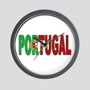 Portugal World Cup Soccer Flag Wall Clock