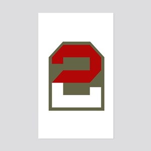 2nd Army Sticker (Rectangle)