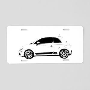 Fiat 500 Aluminum License Plate
