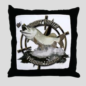 Fishing Legend Throw Pillow