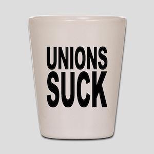 Unions Suck Shot Glass