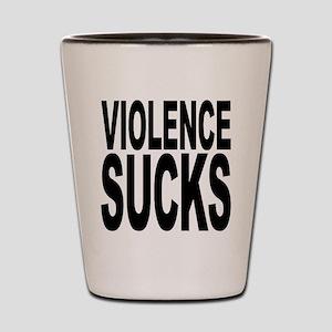 Violence Sucks Shot Glass