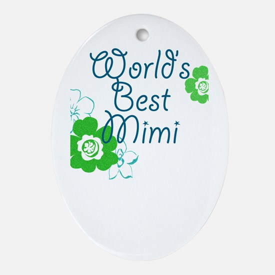 World's Best Mimi Ornament (Oval)