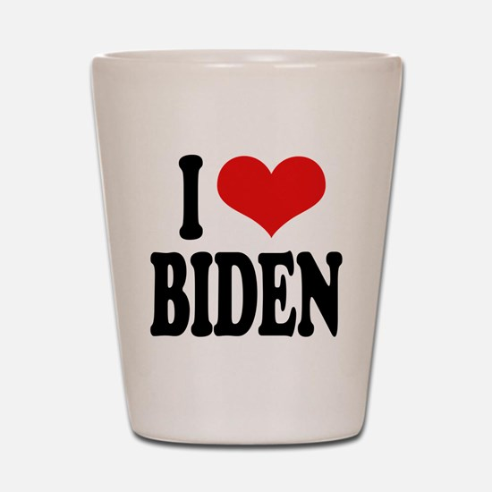 I Love Biden Shot Glass