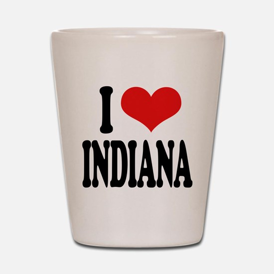 I Love Indiana Shot Glass
