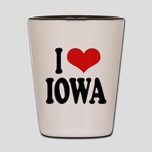 I Love Iowa Shot Glass