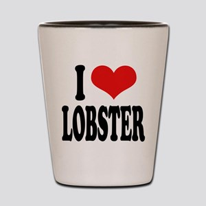 I Love Lobster Shot Glass