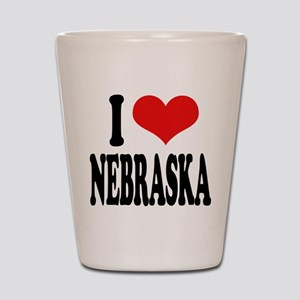I Love Nebraska Shot Glass