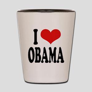 I Love Obama Shot Glass